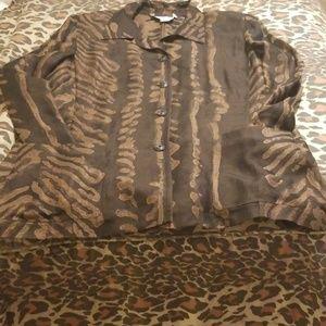 Carlisle Beautiful Brown Pat button-down shirt